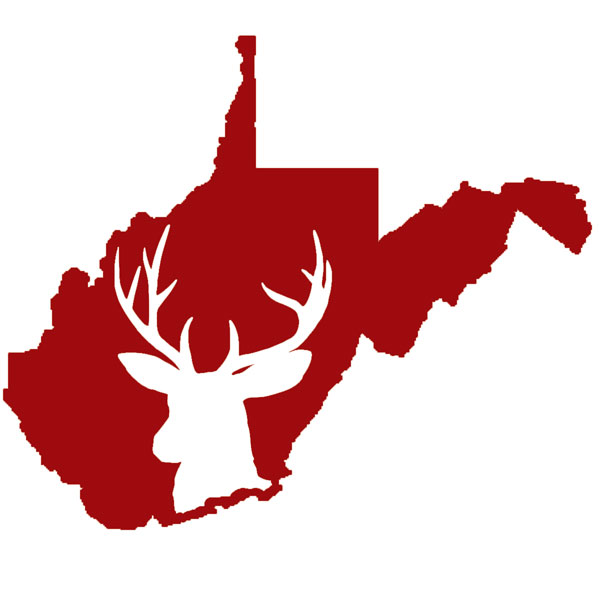 West Virginia Buck Decal Red